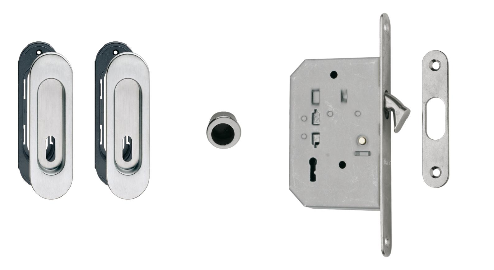 Kit For Sliding Doors 3665af Lock 60 50 Key Fimet Maniglie